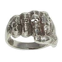4063 - Silverring Knytnäve