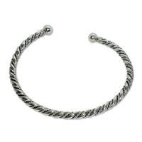 5004 - Silverarmband Stelt Vikingarmband.