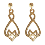 240 - Guldörhängen 18k Keltiska örhängen med insticksplupp