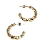 241 - Guldörhängen 18k Vikingacreoler med insticksplupp