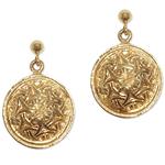 246 - Guldörhängen 18k Keltiska med insticksplupp