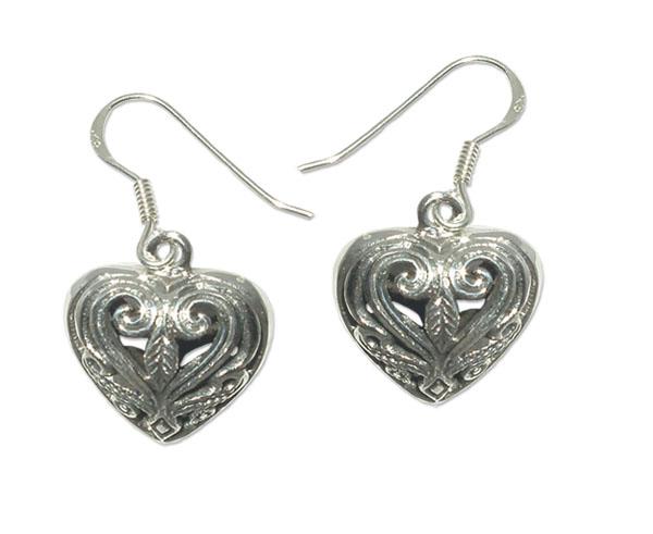 3432-Silverörhänge Keltiskt Hjärta.
