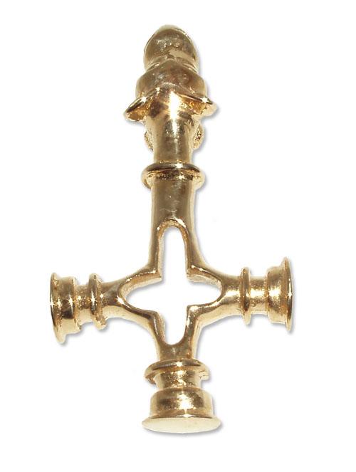 715 - Guldhänge 18k Vargkorset från Island