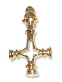716 – Guldhänge  18k  Vargkorset  mindre modellen