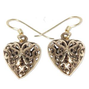 8244 - Bronsörhängen Keltiskt hjärta