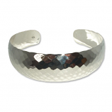 5015 - Silver Snyggt Hamrat armband.