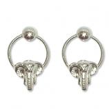 3341 -  Silverörhängen elefant