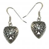 3411 -  Silverörhängen Keltiskt Hjärta.