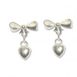 3158- Silverörhänge Hjärta.